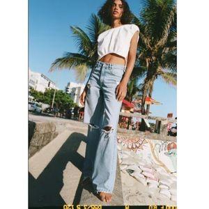 Zara full length ripped jeans NWT